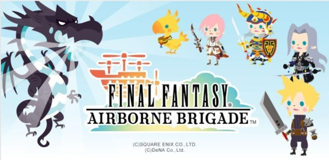 Final Fantasy: Airborne Brigade Characters Banner Artwork of Sephiroth, Cloud, Lightning