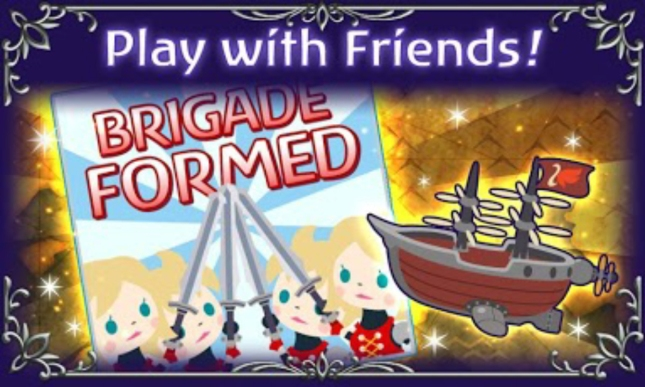 Final Fantasy: Airborne Brigade Airships With Friends Screenshot Artwork