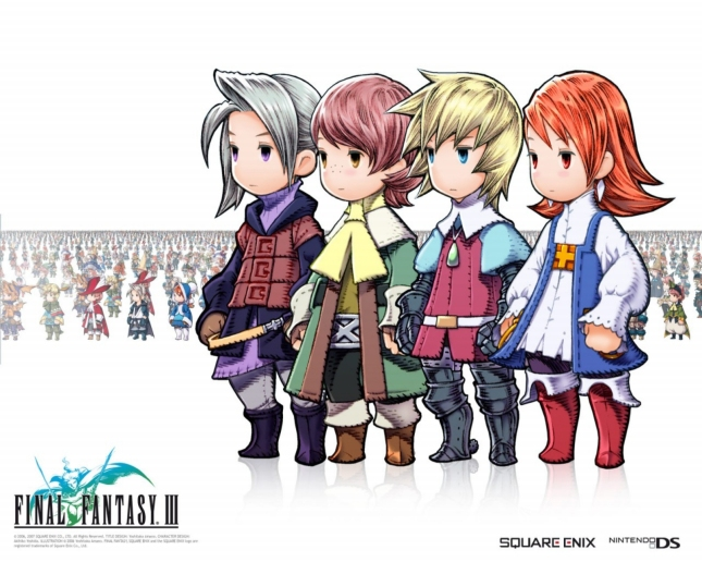 Final Fantasy III Job Characters Wallpaper