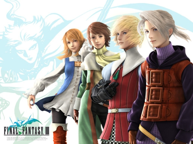 Final Fantasy III The Cast of Characters Wallpaper
