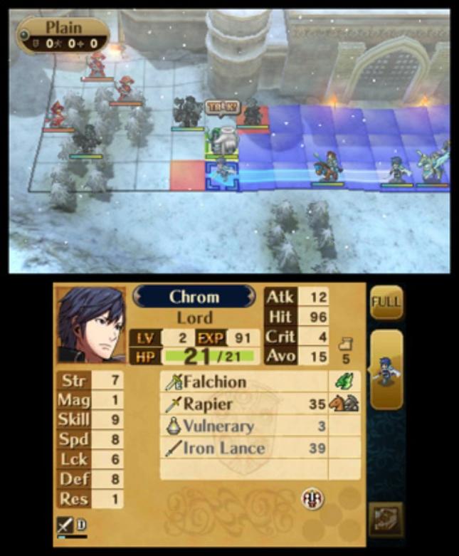 Fire Emblem: Awakening Strategy RPG In Snow Gameplay Screenshot