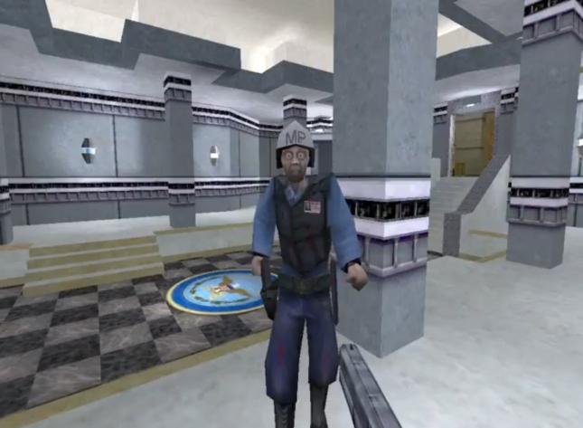 Half-Life Alpha Code Tech Demo Gameplay Screenshot