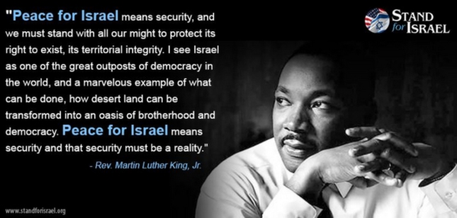 Happy MLK Day 2013 Standing With Israel Quote