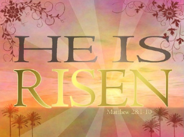 He Is Risen Colorful Wallpaper Matthew 28:1-10