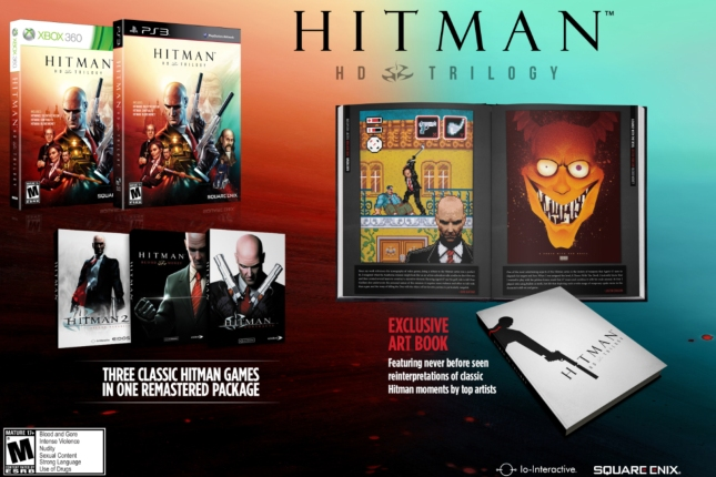 Hitman HD Trilogy Collector's Edition With Artbook (Xbox 360, PS3)