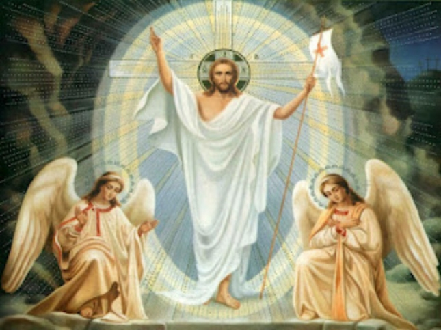 Jesus Christ And Angels In Heaven Wallpaper Artwork