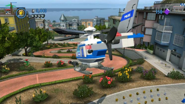 Lego City Undercover Helicopter Gameplay Screenshot