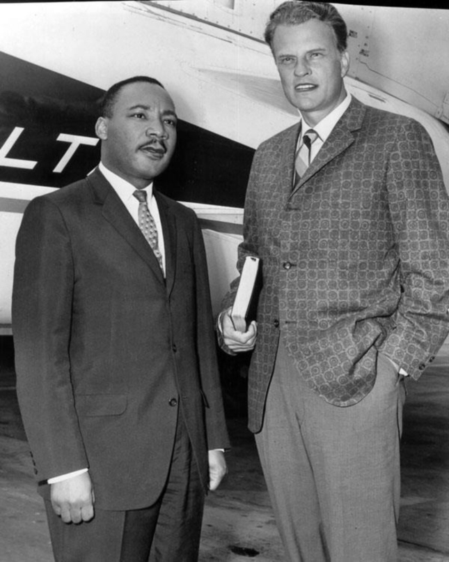 Martin Luthor King Jr. With Billy Graham Photograph
