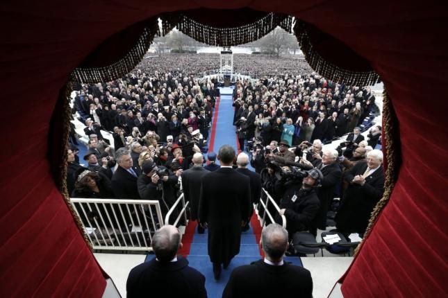 Obama 2nd Inaugural Wallpaper Artistic Crowds At Washington DC National Mall