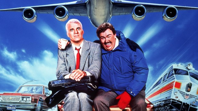 Planes Trains Automobiles Wallpaper John Candy Steve Martin artwork