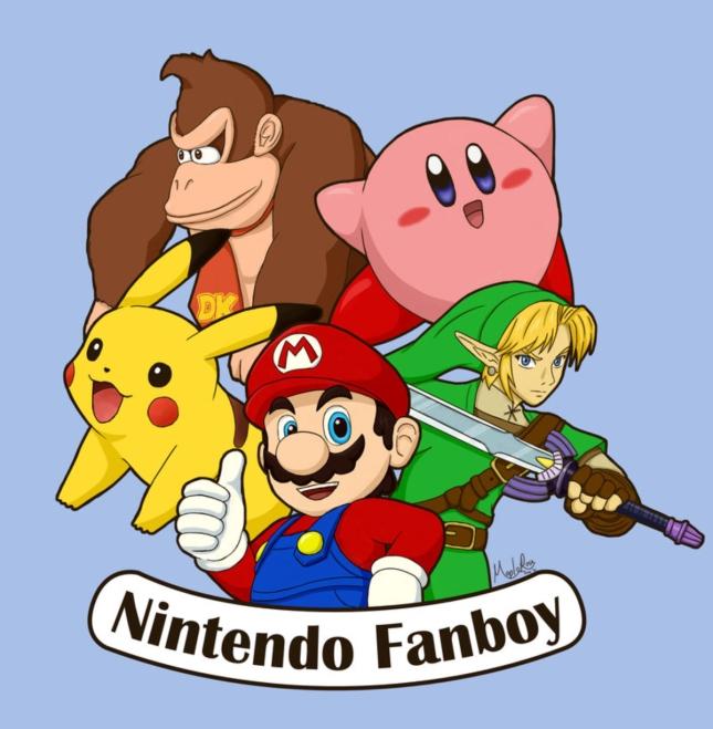 Proud Nintendo Fanboy Artwork by Maplerose