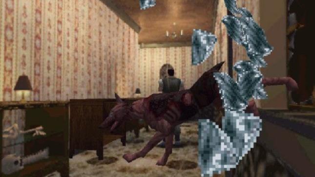 Resident Evil 1 Dog Cerberus Breaks Through Windows Iconic Scene Wallpaper