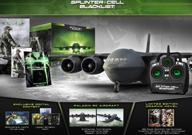 Splinter Cell: Blacklist Collector's Edition Remote Controlled Plane Set