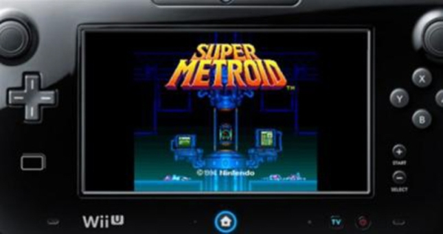 Super Metroid Virtual Console Wii U GamePad