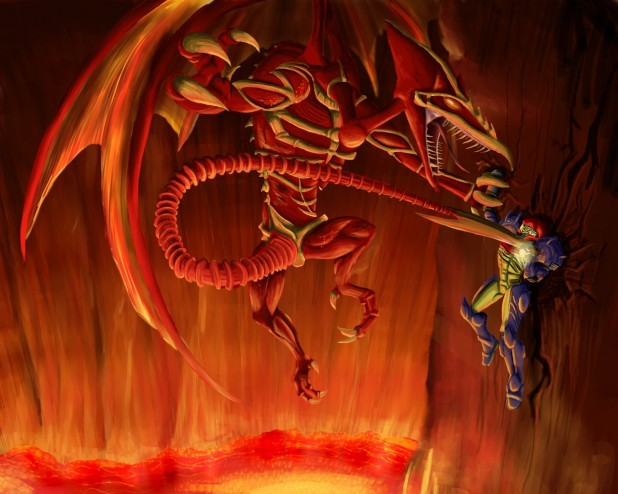 Super Metroid Wallpaper Ridley Boss Artwork By Cronoan