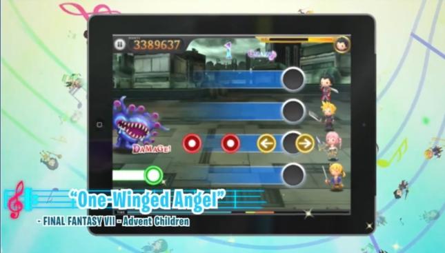 Theatrhythm Final Fantasy ios iPad Gameplay Screenshot Final Fantasy VII One Winged Angel