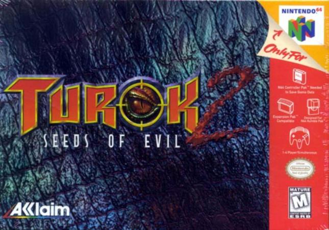 Turok 2: Seeds of Evil N64 Box Artwork