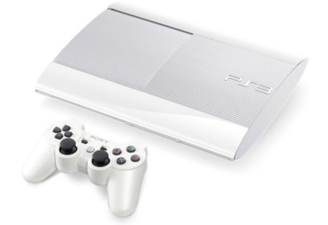 White Super Slim PS3 System