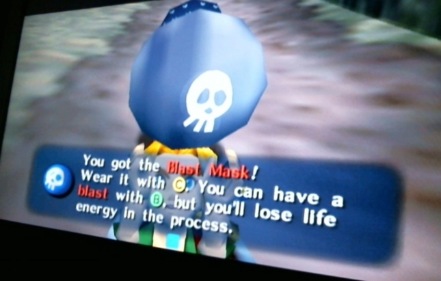 Legend of Zelda Majora's Mask Blast Mask Get Screenshot