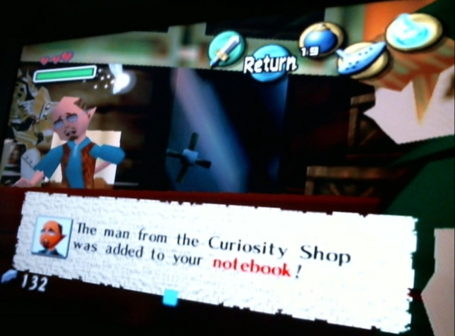 Legend of Zelda: Majora's Mask Curiosity Shop Dealer Added To Bomber's Notebook Screenshot Fisherman Guy From Ocarina of Time