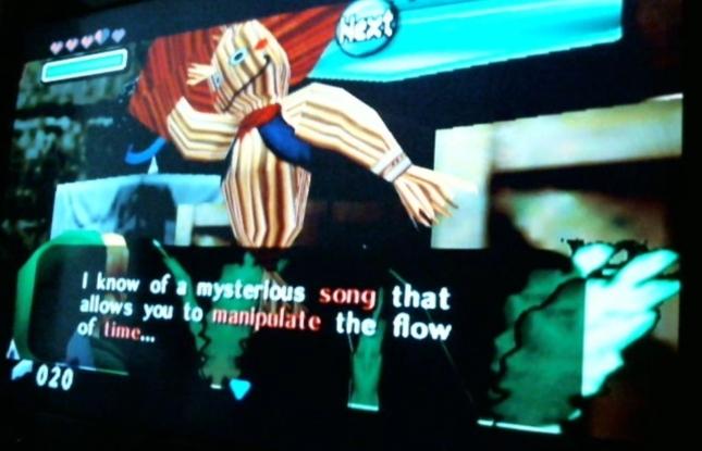 Legend of Zelda Majora's Mask Wandering Scarecrow Mysterious Song Screenshot