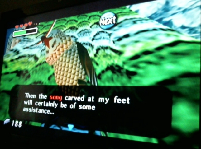 Legend of Zelda: Majora's Mask Wise Owl Kaepora Gaebora Song on Stone Screenshot