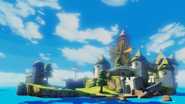 Zelda: Wind Waker HD Remake High Definition Island Gameplay Screenshot