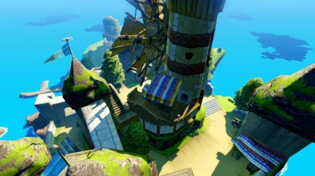 Zelda: Wind Waker Wii U Remake Overhead Ocean Isle Screenshot