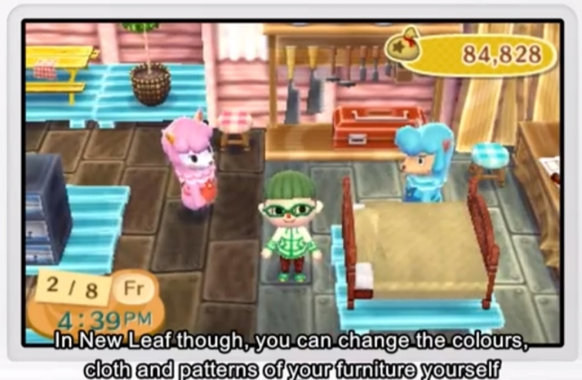 Animal Crossing: New Leaf 3DS Furniture Color Pattern Change Customization Screenshot