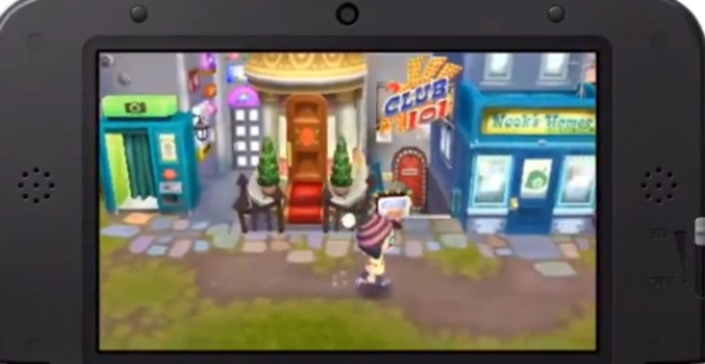Animal Crossing: New Leaf 3DS Main Street Screenshot of Shop Locations
