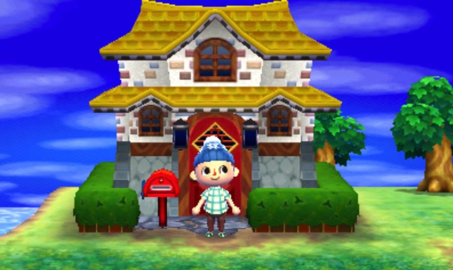 Animal Crossing: New Leaf Outside House Customization Gameplay Screenshot 3DS