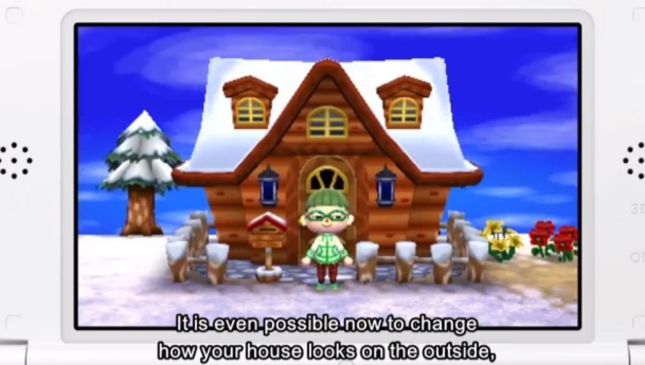 Animal Crossing: New Leaf Snow House Screenshot