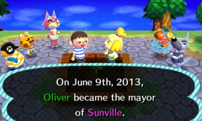 Animal Crossing: New Leaf You Are Mayor Screenshot