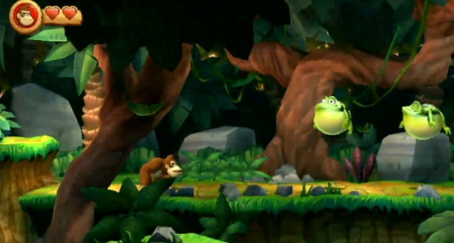 Donkey Kong Country Returns 3DS Gameplay Screenshot