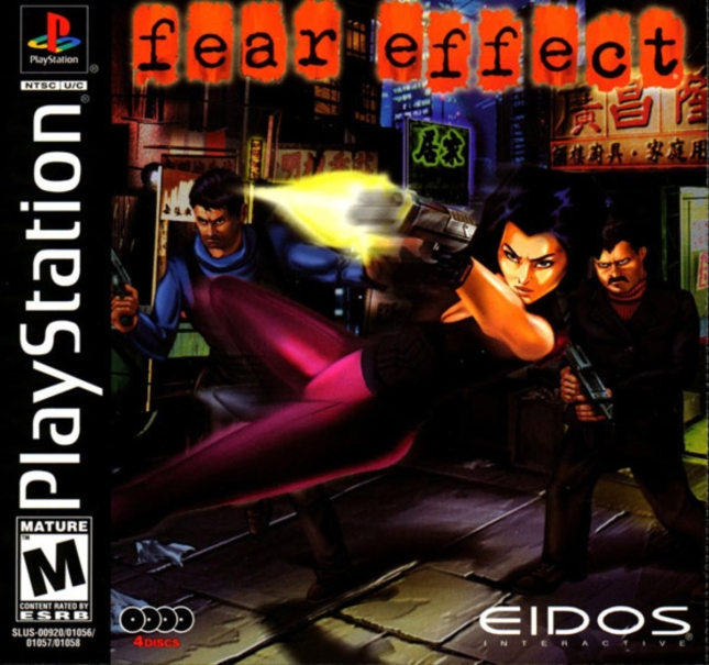 Fear Effect PS1 Cover Box Art USA