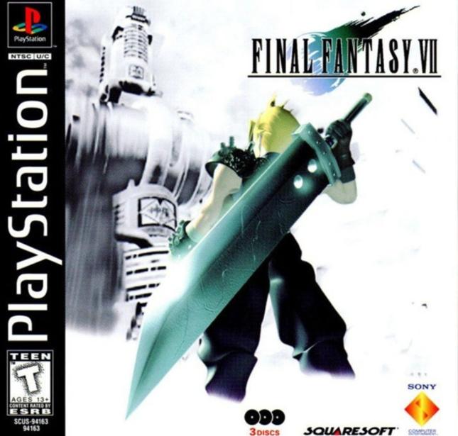 Final Fantasy VII Cover Cloud Box Artwork PS1