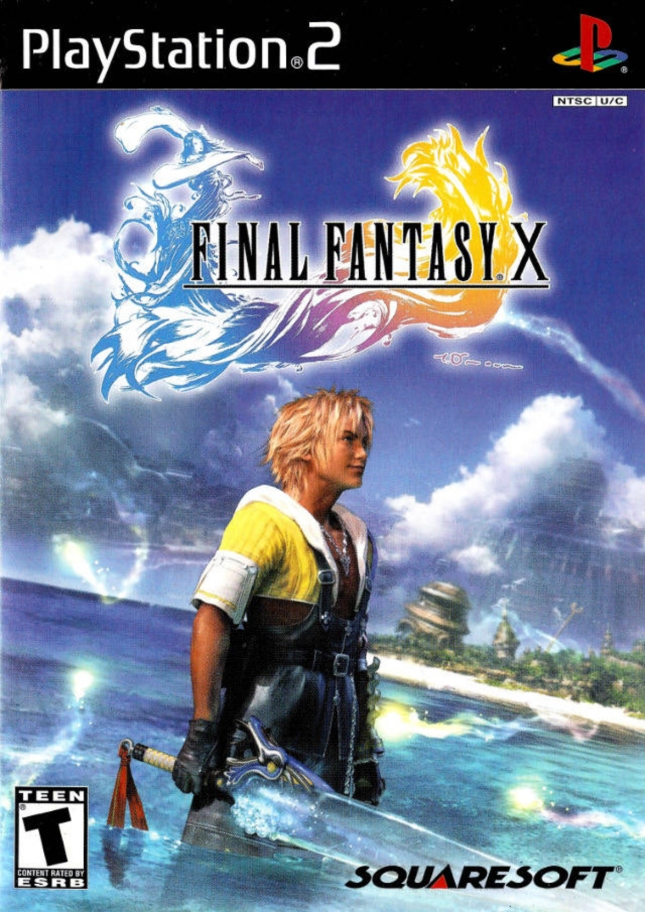 Final Fantasy X Front Cover of Box Artwork PS2
