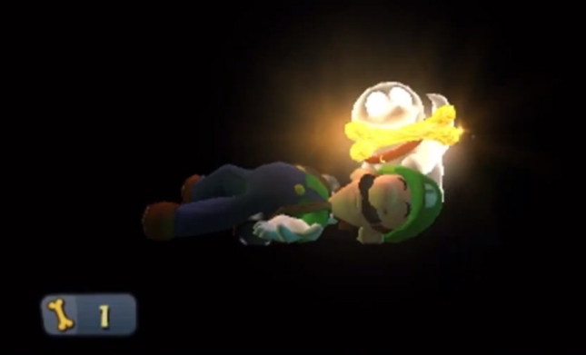 Luigi's Mansion 3DS Ghost Dog Stealing Gold Screenshot
