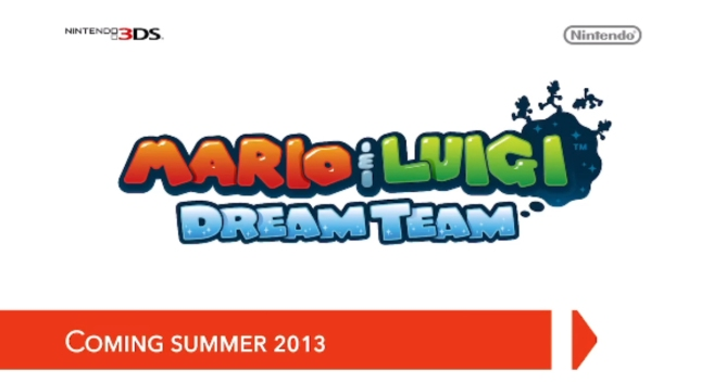 Mario & Luigi Dream Team Logo 3DS Artwork