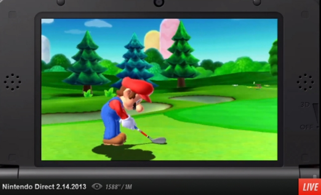 Mario Golf 3DS Screenshot. Releases Summer 2013