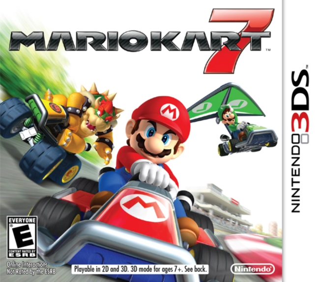 Mario Kart 7 3DS Front Cover of Box Artwork USA