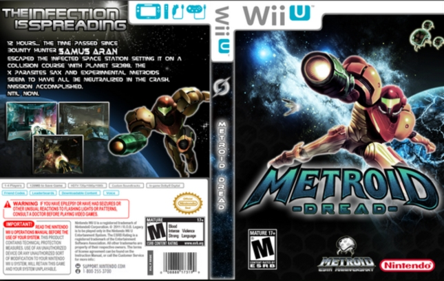 Metroid Dread Wii U Box Art Fake Cover