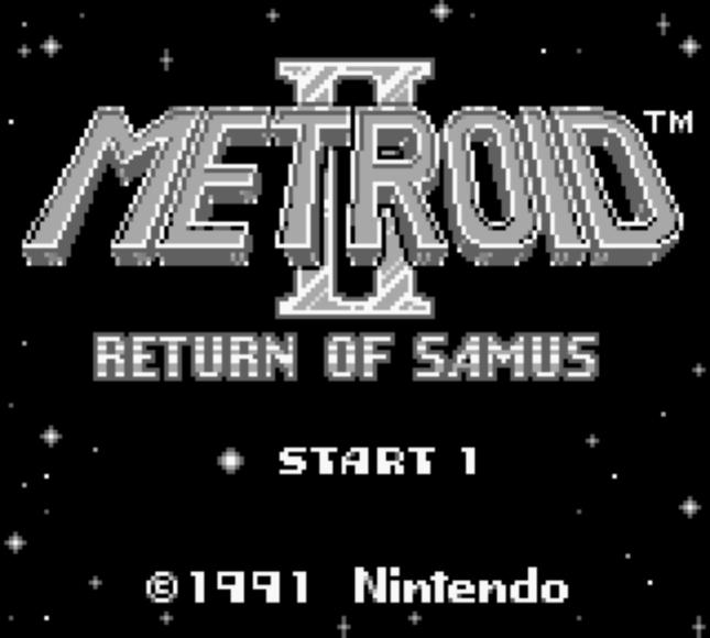 Metroid II Game Boy Title Screenshot