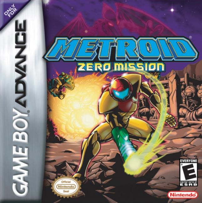Metroid Zero Mission Cover Artwork GBA Box