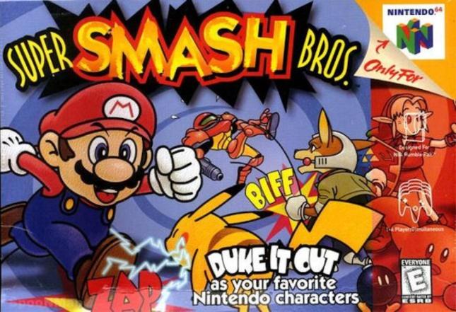 N64 Super Smash Bros. Cover Box Art (Nintendo 64)