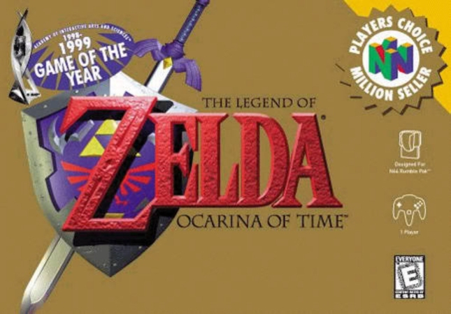 N64 Zelda: Ocarina of Time Cover Artwork Player's Choice Box USA