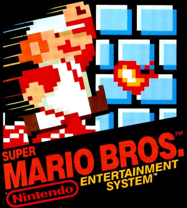 NES Super Mario Bros. 1 Cover Artwork For Box