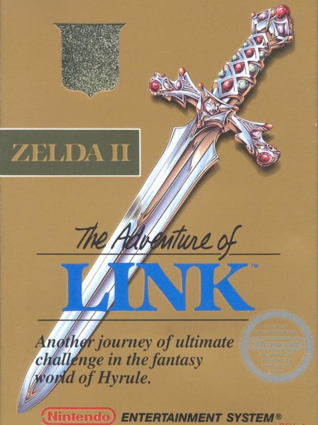 NES Zelda 2 Adventure of Link Cover Art Box USA