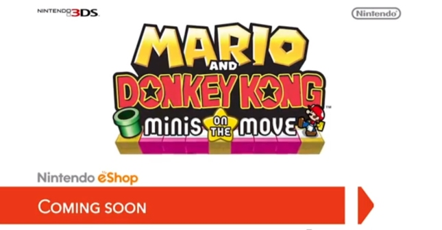 New Mario & Donkey Kong Minis On the Move 3DS eShop Coming Soon Logo Artwork