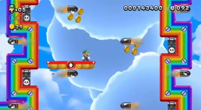 New Super Luigi U Bullet Bill Dodging Screenshot Courses Updated For New Challenges